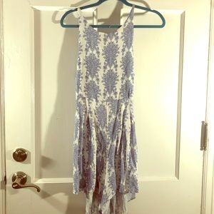 Patterned tie-back romper